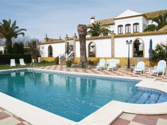 Holiday home Cortijo Hacienda Nueva in Seville. Ideal to visit Seville and Cordova. Andalusia Spain, Andalucia, Seville, Private Pool, Swimming Pools, Mansions, House Styles, Outdoor Decor, Holiday
