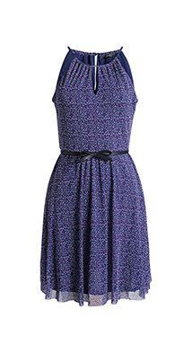 Esprit / stretchy printed mesh dress with a belt Pattern Dress, Dress Patterns, Fall Dresses, Summer Dresses, Mom Daughter, Line Patterns, Mesh Dress, Women Wear, Belt