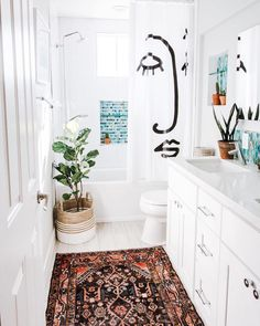 "11.3k Likes, 214 Comments - MyDomaine (@mydomaine) on Instagram: ""Bathroom rugs: yes or no? Share your thoughts in the comments. 