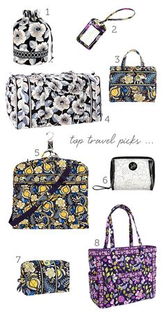 Pretty and packed; see Vera Bradley's top travel accessory picks