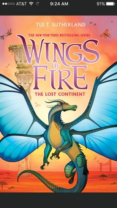The confirmed book cover for The Lost Continent the first book in the Third Arc of the Wings of Fire series