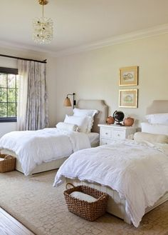 This Bedroom Would Make The Perfect Guest Room Or Kids Room, Depending On  Your Preference. A Neutral Setting And Crisp, White Linens Give The Space A  Fresh ...