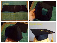tutorial Tocco da Laurea Tutorial, Diy And Crafts, Graduation, Classroom, Kids, Molde, Diy Cards, Class Room