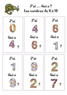 Math games 512636370069381892 - J'ai… Qui a 1 Plus Source by burlinsylvie Vocabulary Games, Math Games, Math Activities, Montessori Math, Daily Math, School Games, Math Numbers, 1st Grade Math, Teaching French