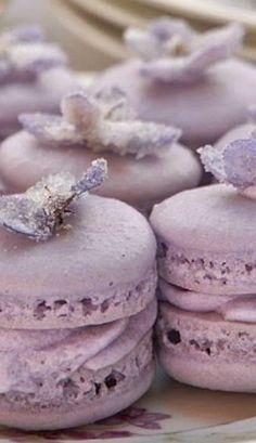 Violet Macarons for Tea!