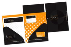 Pocket folder and business cards designed for JC Graphic Communications Inc.