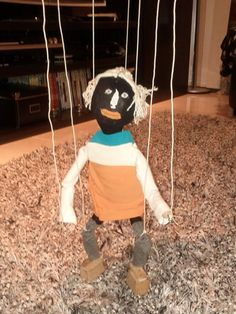 My first Marionette (string Puppet) for my kid (DIY)