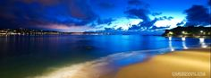 clock of night sea stunning blue skies timeline facebook timeline covers. tourist location night lights city islands stunning facebook timeline