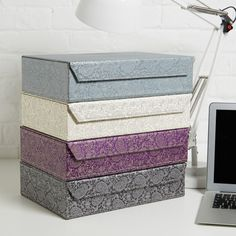 Decorative File Storage Boxes With Lids Recycled Geometric A4 Storage Box File  Box File Storage Boxes