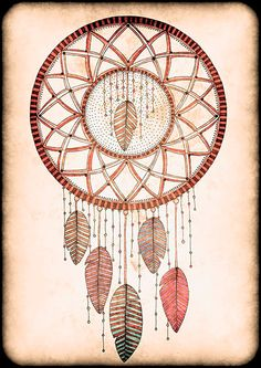 Original Drawing  Dreamcatcher  8.5x12 up to by EnchantedCrayons, $15.00
