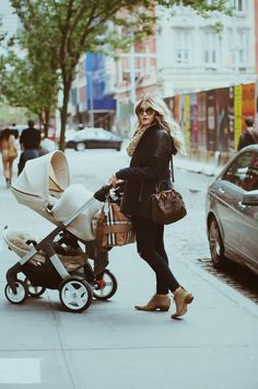 A joy to push with one rider or two! Stokke Crusi stroller in NYC via CARA LOREN