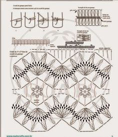 An interesting pattern Filet Crochet, Tunisian Crochet, Thread Crochet, Hairpin Crochet Pattern, Crochet Stitches Patterns, Baby Knitting Patterns, Broomstick Lace, Crochet Blouse, Crochet Lace