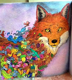 Book: Animorphia Artist: Kerby Rosanes Medium: Cray pas, colored pencils and poster paint  Colored by Ting Sarmiento