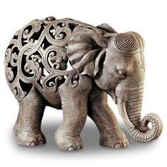 Find it at the Foundary - Filigree Elephant Resin Statue