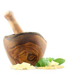 Mörser rustikal aus Olivenholz 14 cm | treevoli