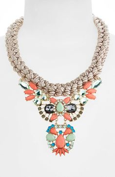 Tildon Braided Statement Necklace available at #Nordstrom