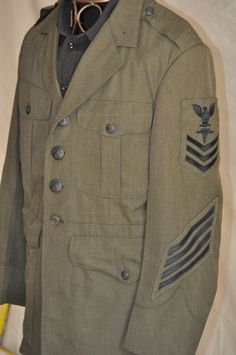 Men's Vintage #Military Army Navy Jacket 80's by ArmorOfModernMen, $42.00 #Americanmilitary #USA