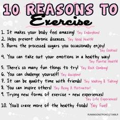 10 reasons why you should be fit.