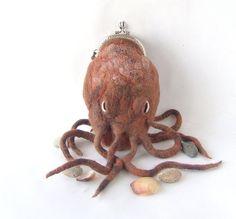 Crazy-cool octopus coin purse