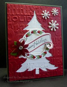 Snowflakes and Holly HYCCT1212/F4A138 by Shadow's Mom - Cards and Paper Crafts at Splitcoaststampers