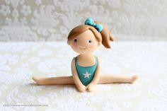 Gymnastic Girl Fondant Cake Topper 1 Girl 1 by mimicafeunion