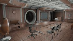Central atrium, luxurious rooms offered by More Vault Rooms mod and many other features. Fallout 4 Vault Tec, Fallout 4 Settlement Ideas, Everything Is Temporary, Shelter, Luxury, Vip, Table, Projects, Workshop