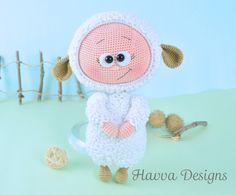 Reticolo  Bonnie con Costume delle pecore di HavvaDesigns su Etsy