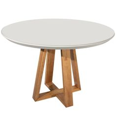 Anchor your space in style with the Rochelle dining table. Its round top and a unique crossover leg design draws the eye in and adds interest to any space. Wherever its placed, the piece blends well with