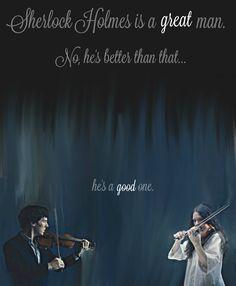 """No, he's better than that...He's a good one."" Sherlock season 4 fan-art. Sherlock Holmes with Eurus Holmes. --Version 2--"