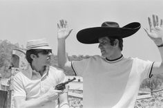 1970: Put 'em up! Stiles jokes with England teammate Peter Osgood at the World Cup Finals in Mexico