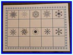 Voici un jeu de loto, pour lequel me élèves vont devoir faire un gros effort d'observation.. Chaque flocon de neige a ses propres caractéristiques. Dans la nature, ils sont tous différents et pour ce petit jeu d'observation, ils le sont aussi. Ouvrez...