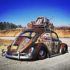 Vw Rat Rod, Volkswagen Bus, Vw Camper, Vw Classic, Rusty Cars, Vw Beetles, Hot Cars, Butterfly Dragon, Monarch Butterfly