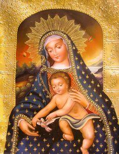 Virgen del Pajarito - Escuela Cuzqueña