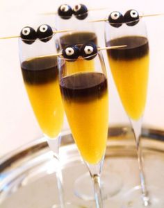 Goblin Mimosas..again, I don't drink but I really just like how this drink looks.
