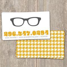 IDEAS Vintage Specs Digital Calling Cards by SaffronAvenue on Etsy, $15.00