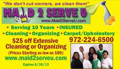 Maid 2 Serve U Donating House Cleanings to Women Battling Cancer