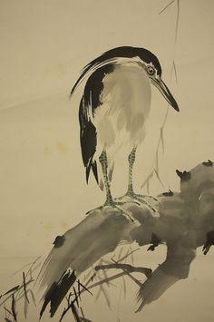 "ARAKI JIPPO ""Egret and Willow"""