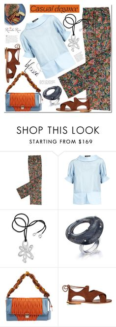 """""""Casual chic"""" by mada-malureanu ❤ liked on Polyvore featuring Muveil, Miu Miu, modern, Silver, jewelry and revekarose"""