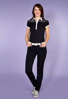 "Lara Polo £49.99, 34"" Miracle Trousers, £79.99, Daily Sports"