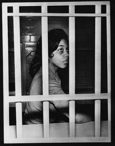 Jean Wynona Fleming, a Fisk University student, sits behind bars in a Nashville jail after her arrest at a drugstore lunch counter on March Sit-ins at nine restaurants protested segregated eating facilities. Black History Facts, Black History Month, Civil Rights Movement, African American History, Black Power, Women In History, Black People, Historical Photos, The Past