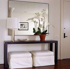 decoração de sala pequena com espelho - Pesquisa Google