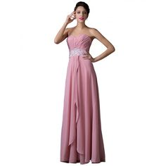 Elegant and graceful sequin and satin ball or bridesmaid gown. This gown is lined and zips up at the back. Prom Party Dresses, Ball Dresses, Bridesmaid Dresses, Formal Dresses, Ball Gowns Evening, Designer Evening Dresses, Pink Dress, Chiffon, Sequins