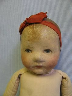 Rare Kathe Krüse 1926/30 Doll VII small Du Mein I body. 35 cm.