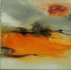 Agnes Lang Kunst Abstraktes Landschaft: Ebene Moderne Abstrakte Kunst Informel