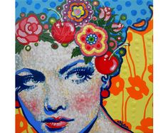 Buy a wide selection of original handmade colourful portraits by the visual artist Amylee. On linen canvas and ready to hang