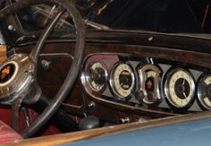 1936 Packard Super 8 instrument panel.  Photography by David E. Nelson