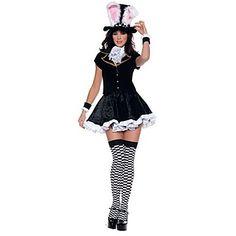 kostium cosplay to uszy królika, opaski, krawat, koszulę, sukienkę - USD $ 28.99