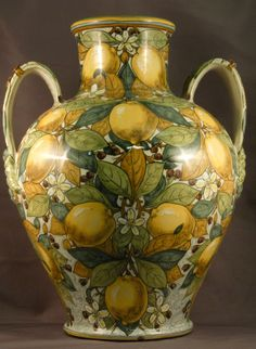 Cantagalli lustre urn, stile liberty, William de Morgan influence