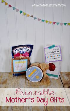 Mother�s Day Gift Ideas plus Free Printables