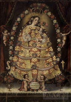 Nuestra Señora del Rosario de Pomata | Anónimo cuzqueño : Archivo Digital de Arte Peruano